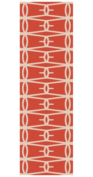 Fallon Hand-Woven Coral Area Rug by Jill Rosenwald Home