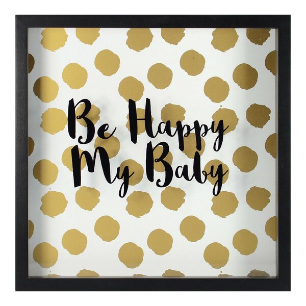 Carlton Be Happy My Baby Framed Paper Print by Harriet Bee