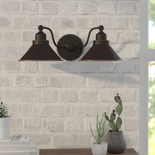 Schaff 2 Light Wall Sconce In Mission Dust Bronze U0026 Reviews | Joss U0026 Main