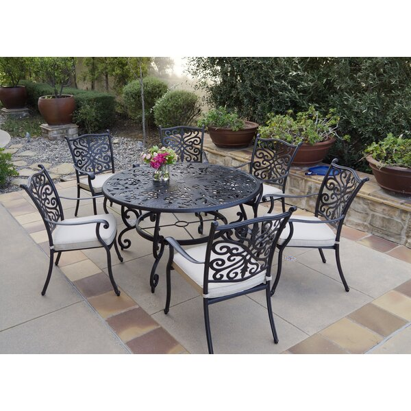 Burkhalter 7 Piece Dining Set with Cushions by Canora Grey