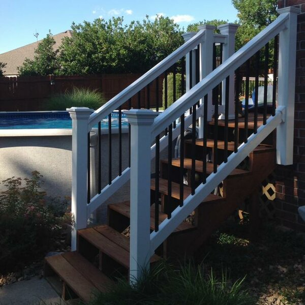 Beaumont Stair Railing by Vinyl Fence Wholesaler