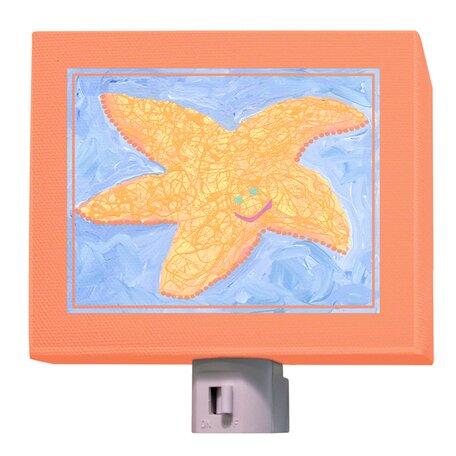 Orange Starfish Night Light by Oopsy Daisy