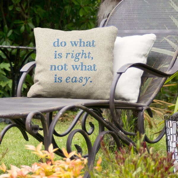 Do What is Right Indoor/Outdoor Throw Pillow