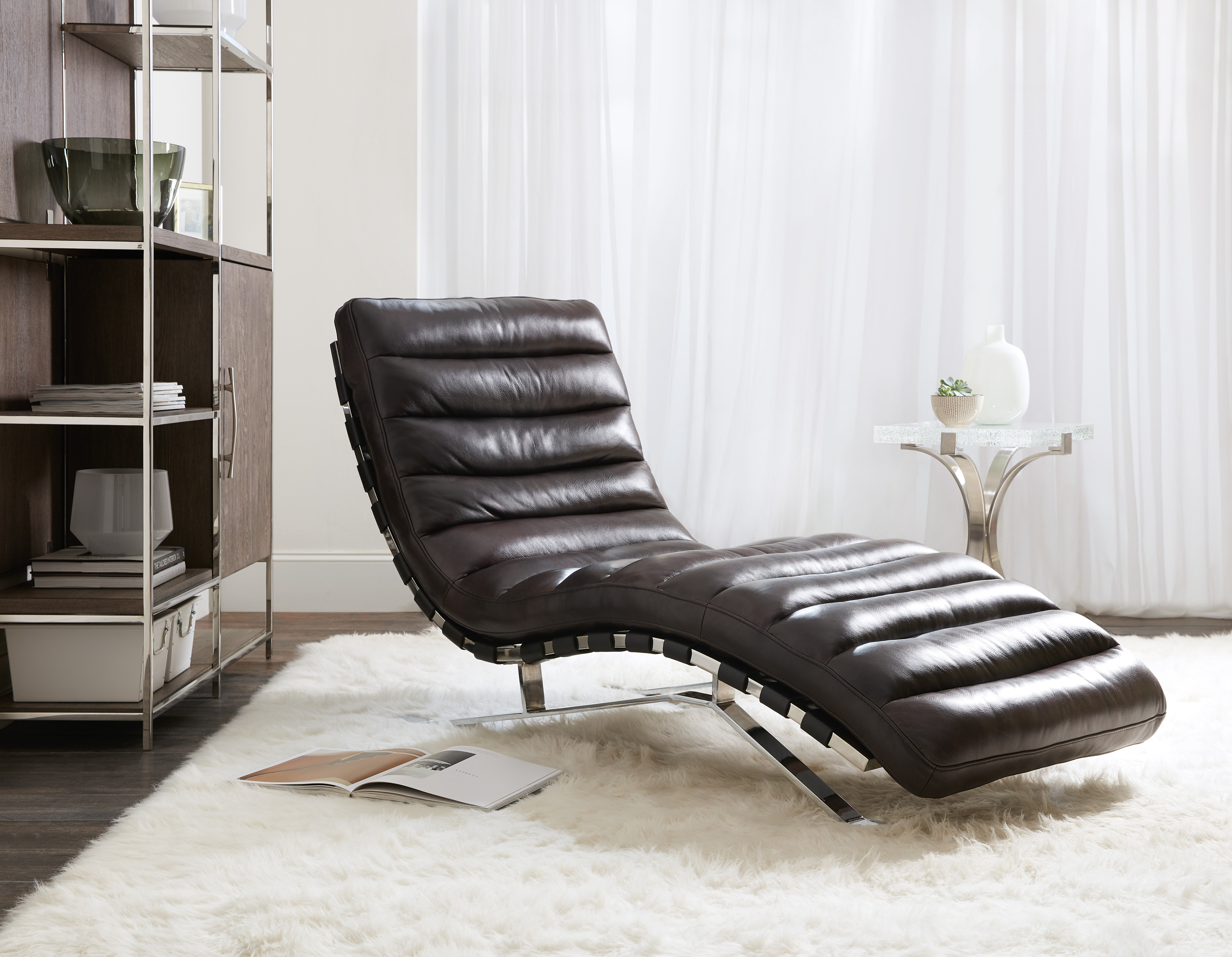 - Hooker Furniture Caddock Leather Chaise Lounge Wayfair