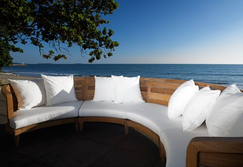 Limited Teak Patio Sectional with Cushion by OASIQ