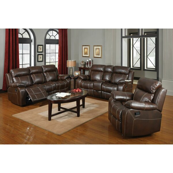 Chestnut Reclining Configurable Living Room Set by