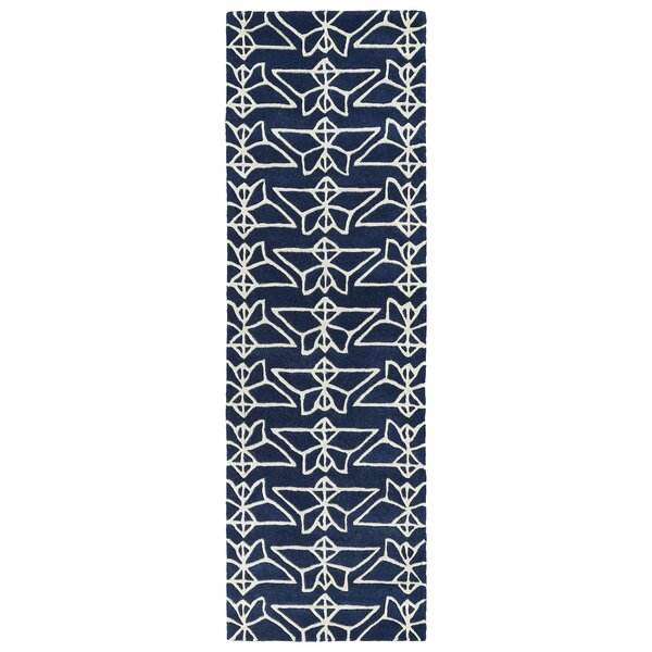 Ronnie Hand-Tufted Navy Area Rug by Wrought Studio