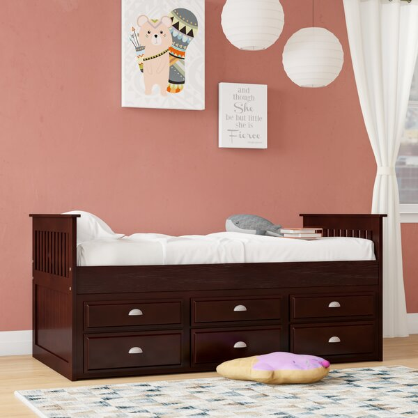 Twin Mates Bed with Trundle and Drawers by Bernards