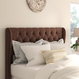 Yorkshire Upholstered Wingback Headboard by Three Posts™