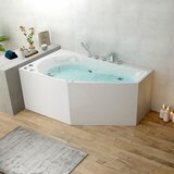 59 x 34 Corner Whirlpool Bathtub byDecoraport