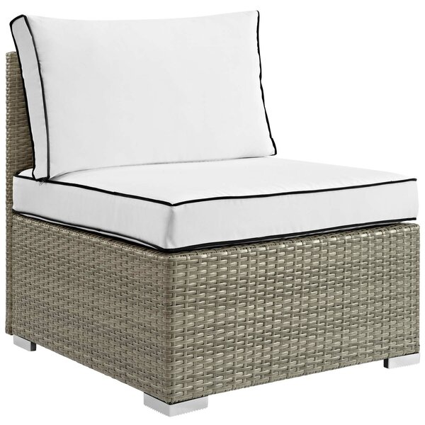 Heinrich Outdoor Armless Patio Chair with Cushion by Highland Dunes