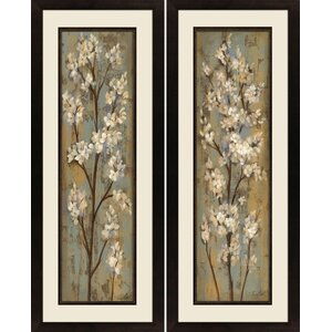 'Almond Branch' 2 Piece Rectangle Framed Painting Print Set by Andover Mills