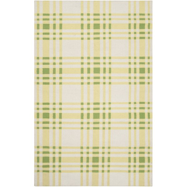 Happy Cottage Yellow Plaid Area Rug by Country Living™ by Surya