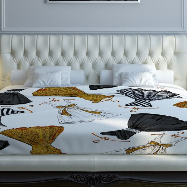 Put on Your Party Dress Fleece Duvet Cover by One Bella Casa