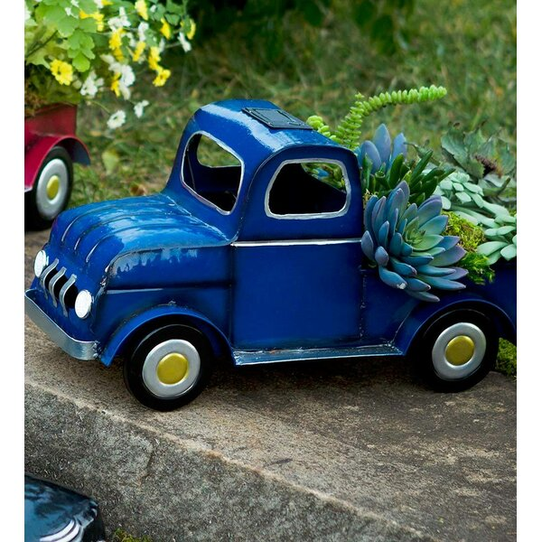 Solar Metal Truck Planter by Plow & Hearth