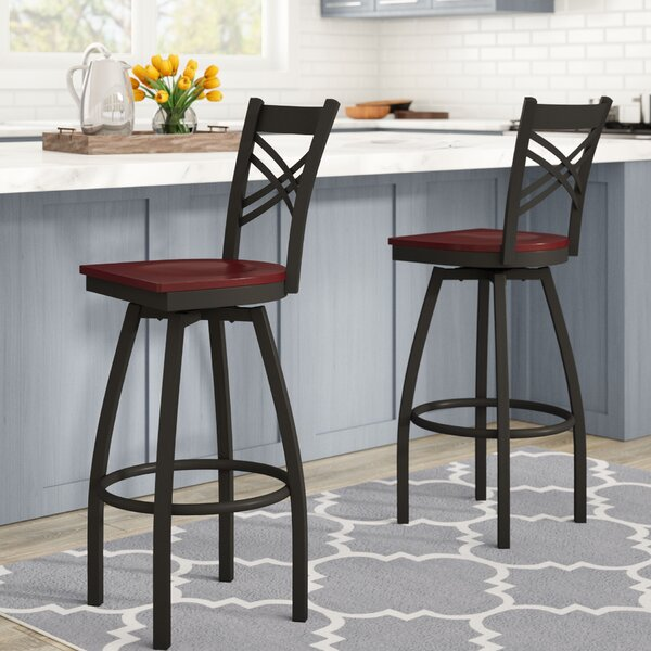 Thornfeldt 30.25 Swivel Bar Stool (Set of 2) by Red Barrel Studio