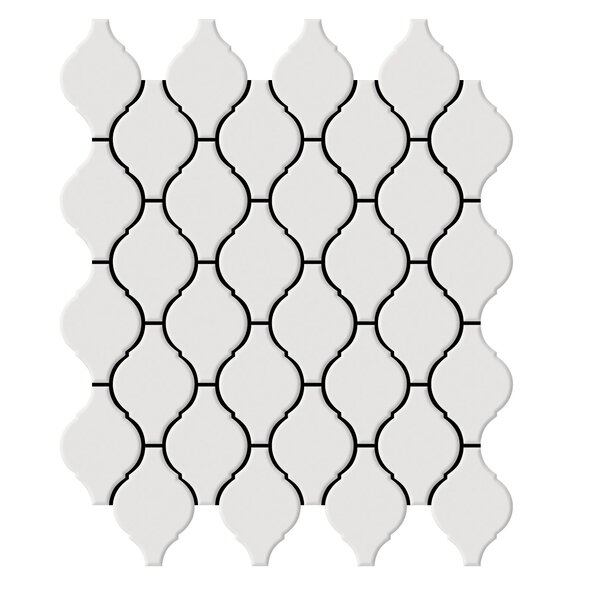 Shape 2 x 2 Porcelain Mosaic Tile in White by Emser Tile