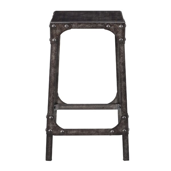 Dasia Industrial Gathering 24.25 Bar Stool (Set of 2) by Williston Forge