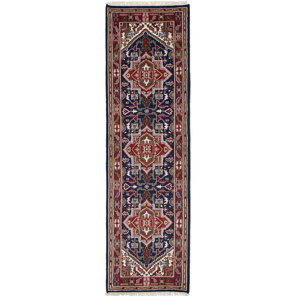 One-of-a-Kind Zetilla Hand-Knotted Wool Navy Blue Area Rug by Isabelline