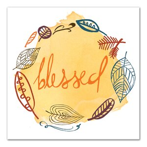 'Blessed Wreath' Graphic Art Print on Canvas