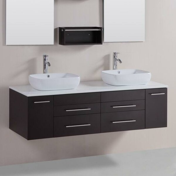60 Double Modern Bathroom Vanity Set by Belvedere Bath