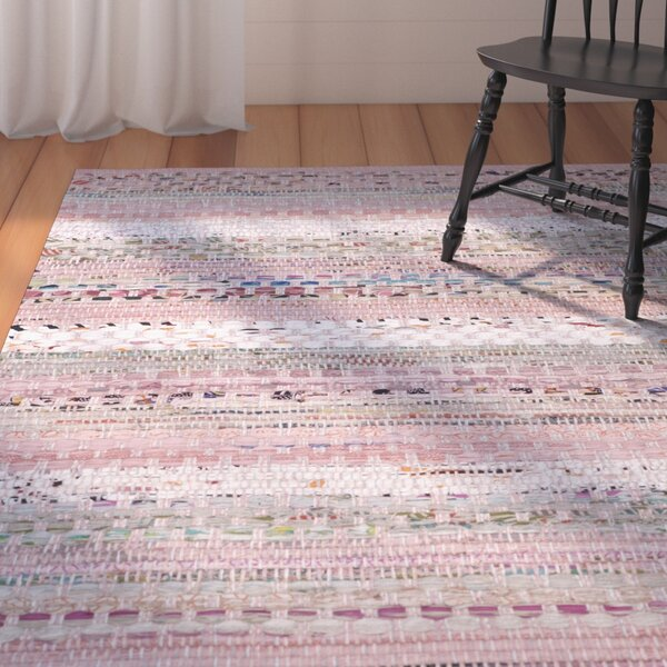 Vesey Hand-Woven Pink/Blue Area Rug by August Grove