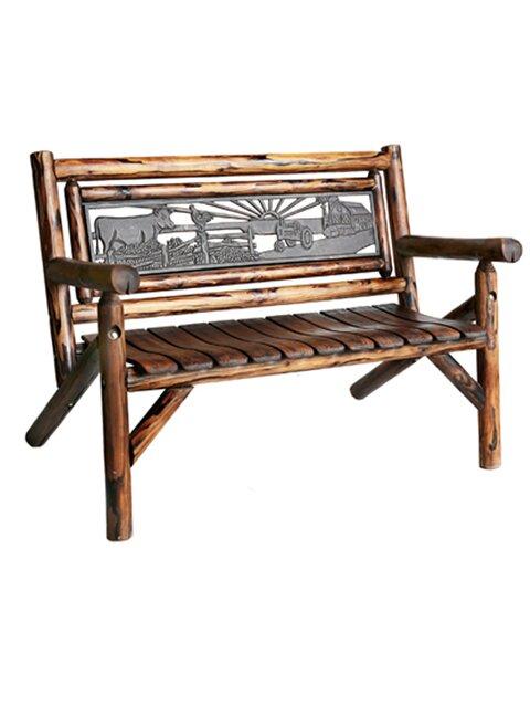 Char Log Double Garden Bench
