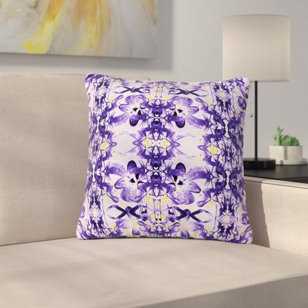 Dawid Roc Tropical Orchid Floral Outdoor Throw Pillow by East Urban Home