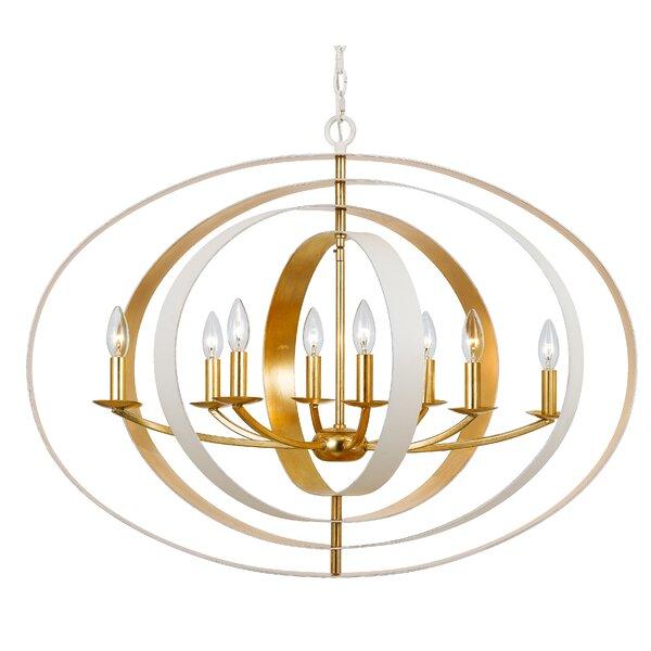 Mason 8-Light Candle Style Globe Chandelier By Corrigan Studio