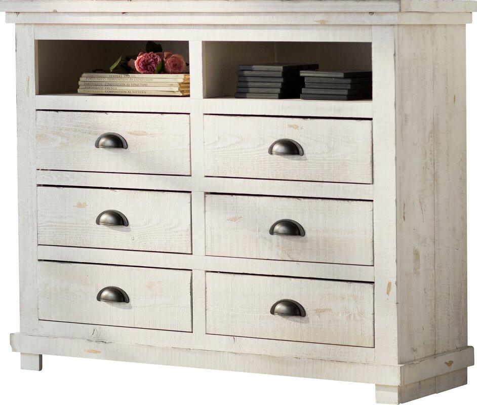 Lark manor castagnier 6 drawer media chest reviews wayfair for Wayfair store