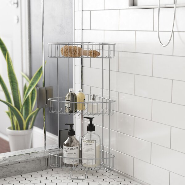 Free Standing Shower Caddy By Rebrilliant.