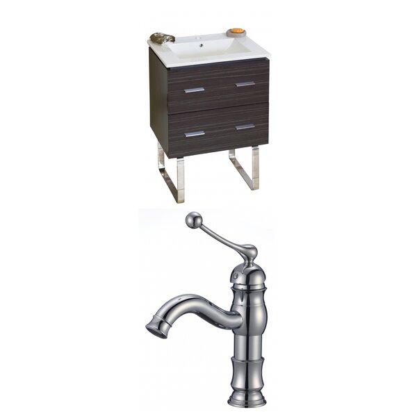 Kyra 24 Wood Single Bathroom Vanity Set with 2 Drawers by Orren Ellis