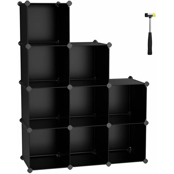 Storage Cube Organizer 9 Pair Stackable Shoe Rack