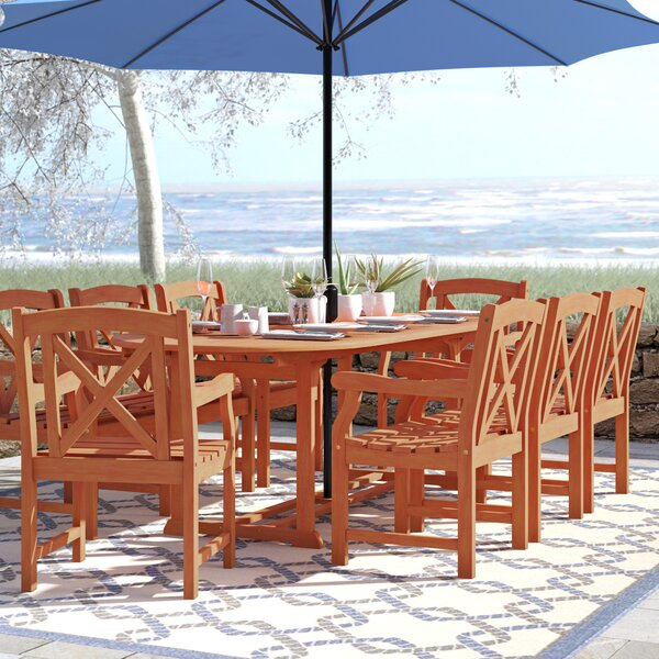 Amabel Extendable 9 Piece Dining Set by Beachcrest Home