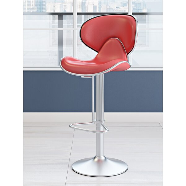Adjustable Height Swivel Bar Stool by Wade Logan