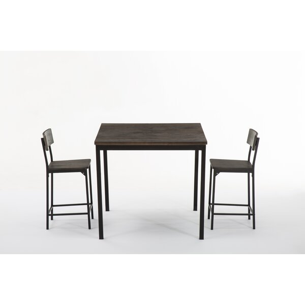 Bushman 3 Piece Pub Table Set by Williston Forge