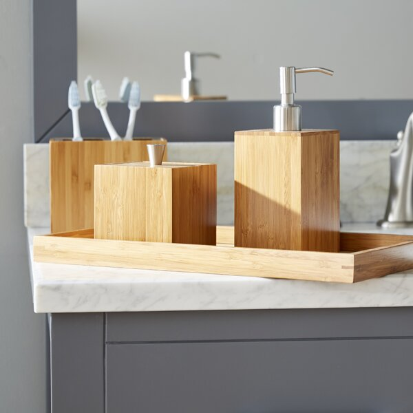 Cillian Bamboo 5-Piece Bathroom Accessory Set by The Twillery Co.