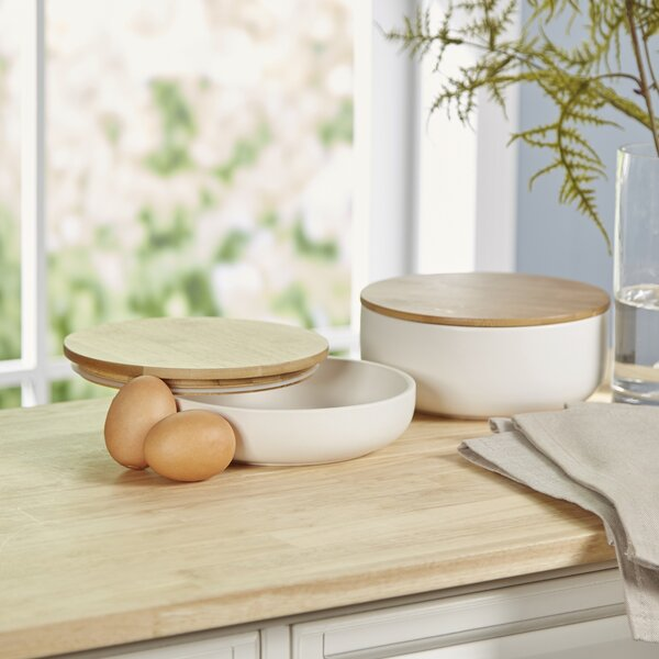 Paprika 2 Piece Ceramic Mixing Bowl Set by Mint Pantry