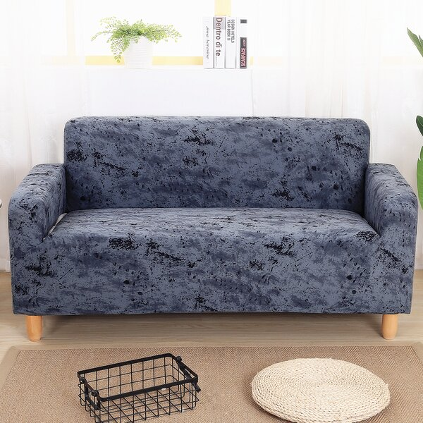 Elegant Box Cushion Loveseat Slipcover By Ebern Designs