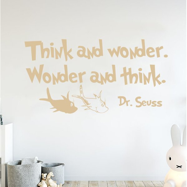 Think and Wonder Wall Decal by Zoomie Kids
