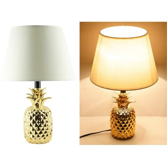 Martel Shiny Pineapple Ceramic 19 Table Lamp (Set of 4) by Bay Isle Home