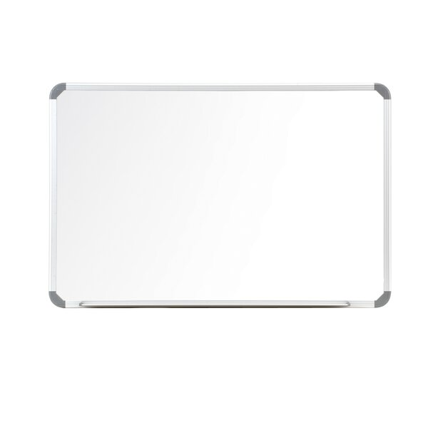 Ghent Cintra Magnetic Painted Steel Whiteboard with Euro Style Aluminum Frame by Ghent