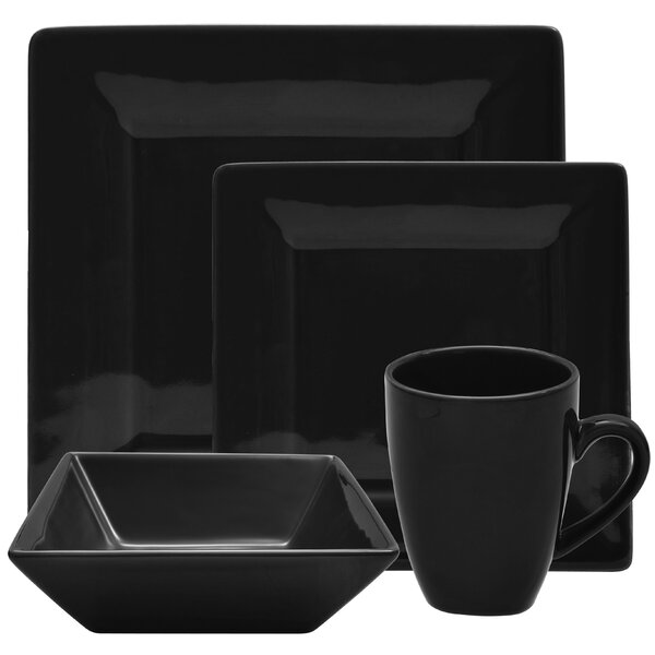 Ilse 16 Piece Square Dinnerware Set, Service for 4 by Zipcode Design