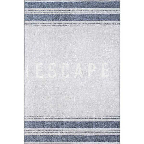 Escape Blue Area Rug by Novogratz