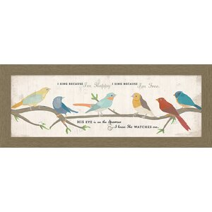 A Cut Above 'His Eye on the Sparrow' Framed Graphic Art by Carpentree