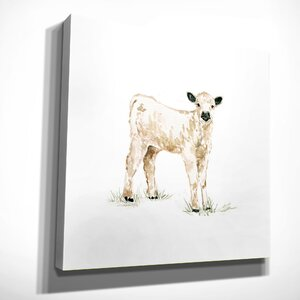 'Baby Calf' by Carol Robinson Painting Print on Wrapped Canvas by Wexford Home