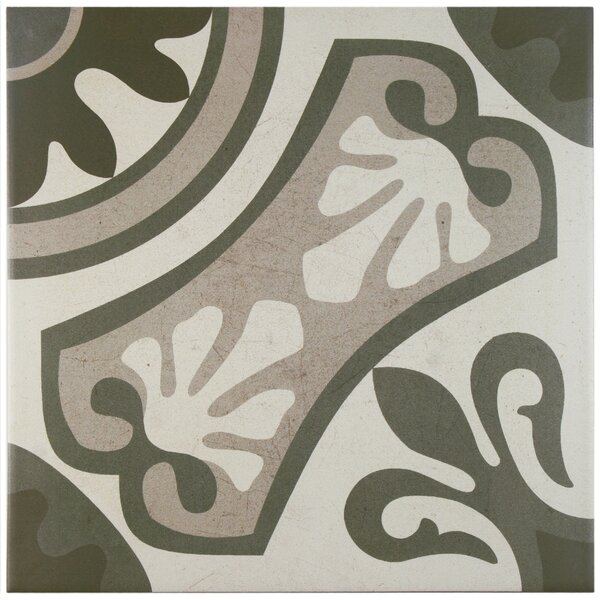 Serdi 13 x 13 Ceramic Field Tile in Beige/Gray by EliteTile