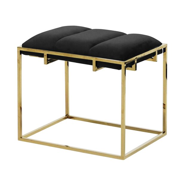 Tinley Velveteen Vanity Stool by Everly Quinn