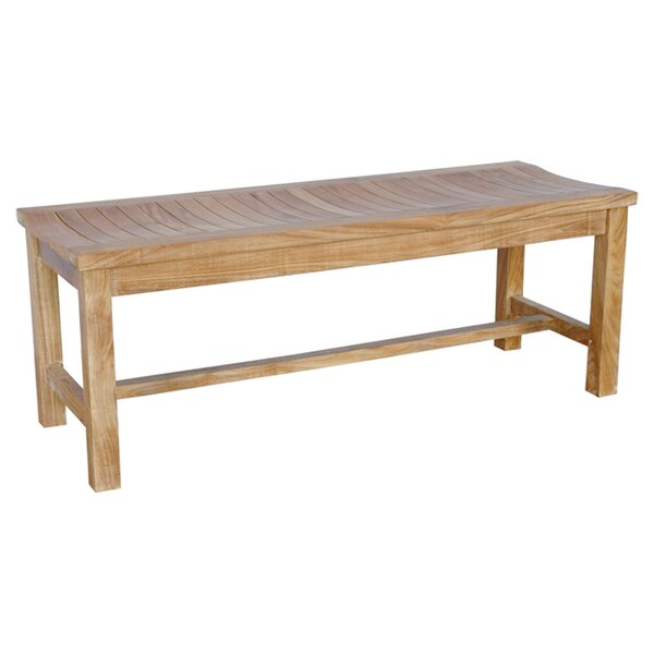 Ellender Teak Wood Picnic Bench by Highland Dunes