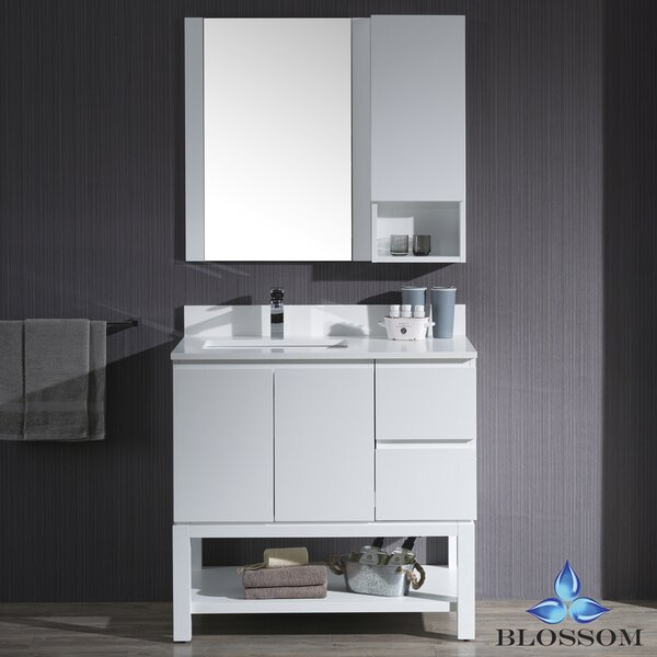 Maly 66 Single Bathroom Vanity Set with Mirror by Orren Ellis